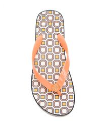 Tory Burch - Yellow Carved Wedge Flip-flops - Lyst