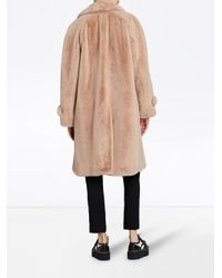 Burberry - Natural Single Breasted Car Coat - Lyst