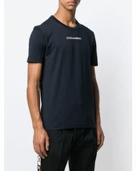 Dolce & Gabbana - Blue T-Shirt mit Logo-Print for Men - Lyst