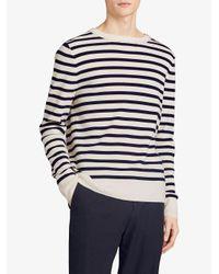 Burberry - White Breton Stripes Sweater for Men - Lyst
