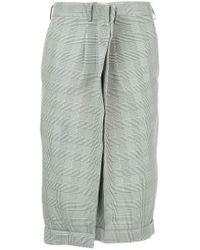 Comme des Garçons - Black 2d Twisted Plaid Shorts - Lyst