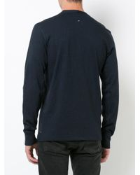 Rag & Bone - Blue Buttoned Sweatshirt for Men - Lyst