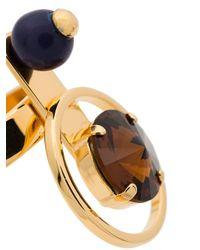 Marni - Metallic Multi Stone Orb Ring - Lyst
