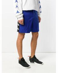 Paura - Blue X Kappa Zack Oversized Shorts for Men - Lyst