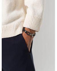 Bottega Veneta - Black Intrecciato Bracelet for Men - Lyst