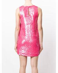 P.A.R.O.S.H. Pink Sequinned Mini Dress