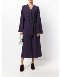 Pringle of Scotland - Blue Striped Drawstring Shirt Dress - Lyst