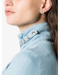 Yvonne Léon - Metallic 18k White Gold And Diamond Circle Earring - Lyst