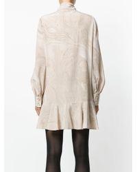 Alexander McQueen - Brown Marble Print Mini Dress - Lyst