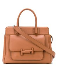 Tod's - Brown Double T Medium Tote - Lyst