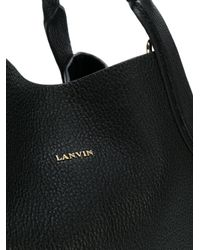 Lanvin - Black Mini Cabas Tote Bag - Lyst