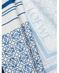 Loewe - White Anagram Print Scarf - Lyst