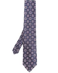 Etro - Blue Printed Tie for Men - Lyst