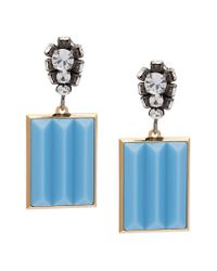 Marni - Blue Bevelled Pendant Earrings - Lyst
