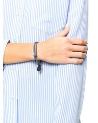 Bottega Veneta | Blue Intrecciato Leather Bracelet | Lyst