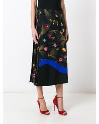 Fendi - Black Printed Cady Mid-length Skirt - Lyst