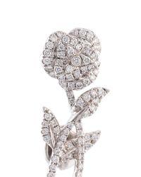 Yvonne Léon - Metallic Rose Stem Diamond Earring - Lyst