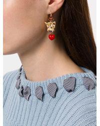 Dolce & Gabbana - Multicolor Dog Charm Earrings - Lyst