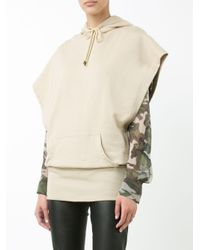 Alexandre Vauthier - Natural Sleeveless Hooded Top - Lyst