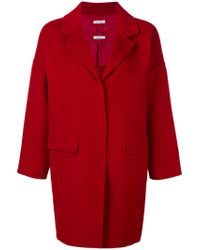 P.A.R.O.S.H. - Red Single Breasted Coat - Lyst