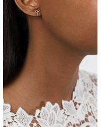 Aurelie Bidermann - Metallic 'clover' Earring - Lyst