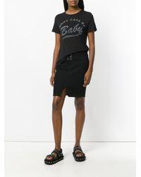 Zoe Karssen   Black Lace-up Midi Skirt   Lyst