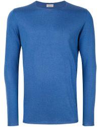 Laneus - Blue Crew Neck Sweater for Men - Lyst