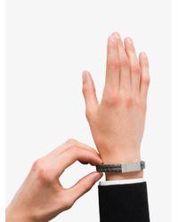 Prada - Gray Saffiano Leather Bracelet for Men - Lyst