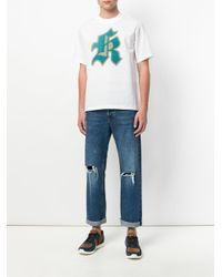 Kolor - White Printed T-shirt for Men - Lyst