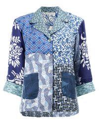 Pierre Louis Mascia - Blue Multi-print Shirt - Lyst