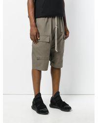 Rick Owens - Green Drop-crotch Pocket Shorts for Men - Lyst