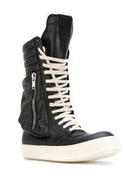 Rick Owens - Black Cargo Basket Hi-top Sneakers - Lyst