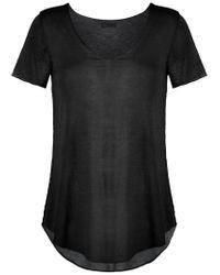 Osklen - Black Sheer Top - Lyst