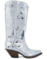 Buttero - Metallic Elise Mirrored Western Boots - Lyst