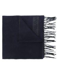 Dolce & Gabbana - Blue Fringed Scarf for Men - Lyst