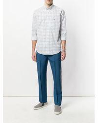 Etro - White Fine Paisley Print Shirt for Men - Lyst