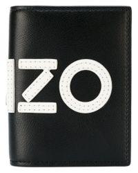 KENZO - Black Graphic Logo Wallet for Men - Lyst