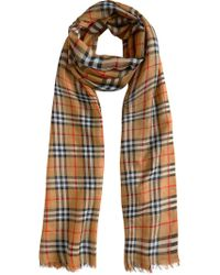 Burberry - Brown Vintage Check Scarf - Lyst