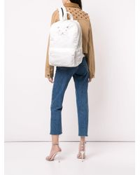 Tu Es Mon Tresor White Tuck Ribbon Backpack