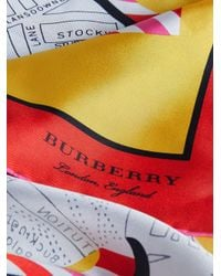 Burberry - Yellow London Square Scarf - Lyst