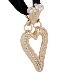 Saf Safu - Black Heart Ribbon Necklace - Lyst