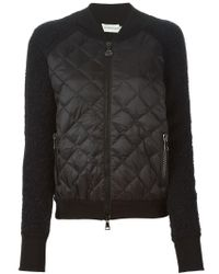 Moncler - Black Quilted Wool and Mohair-Blend Jacket  - Lyst