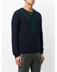 Mp Massimo Piombo - Blue Knit Striped Jumper for Men - Lyst