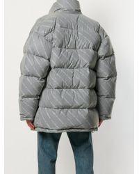 Balenciaga - Gray Profil Collar Puffer Coat for Men - Lyst