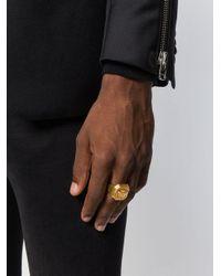 Versace - Metallic Ring mit Medusa-Prägung for Men - Lyst