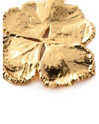 Aurelie Bidermann - Metallic Mini 'clover' Necklace - Lyst