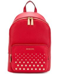 MICHAEL Michael Kors - Red Wythe Large Backpack - Lyst