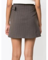 Egrey - Brown Side Buckles Straight Skirt - Lyst