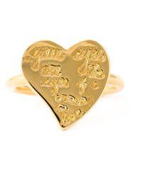 Valentino - Metallic 'l'amour' Ring - Lyst