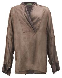 Di Liborio - Brown Casual V-neck Shirt for Men - Lyst